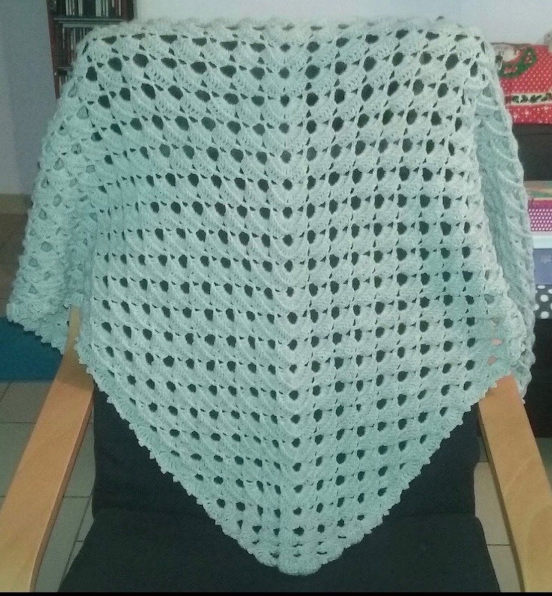 Tuto Châle Point Fantaisie Patchwork Crochet Blanket Y