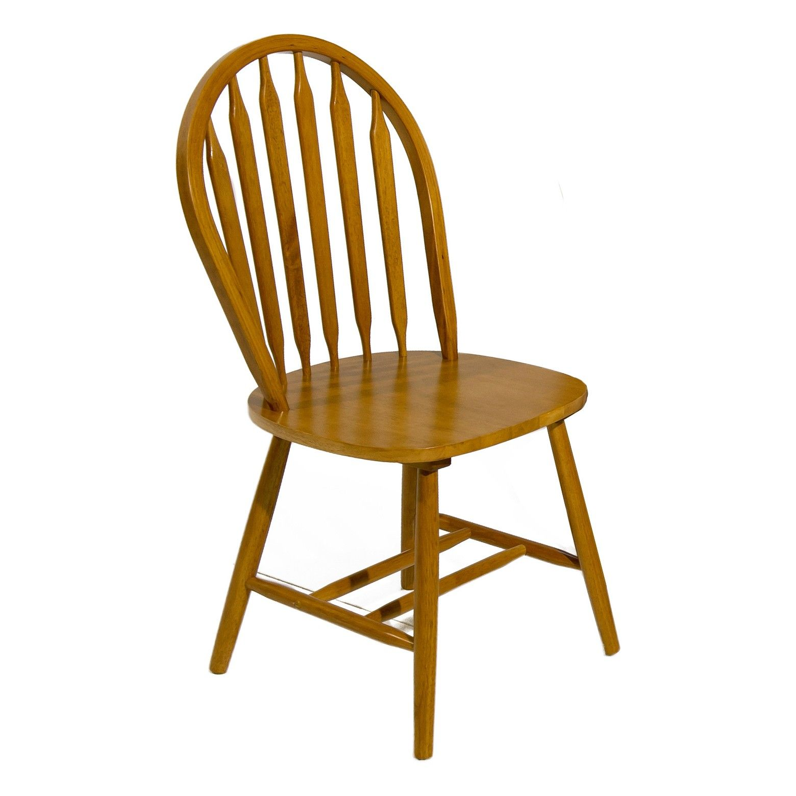 Arrow Back Chair Spice Oak Set Of 2 Home Source Target