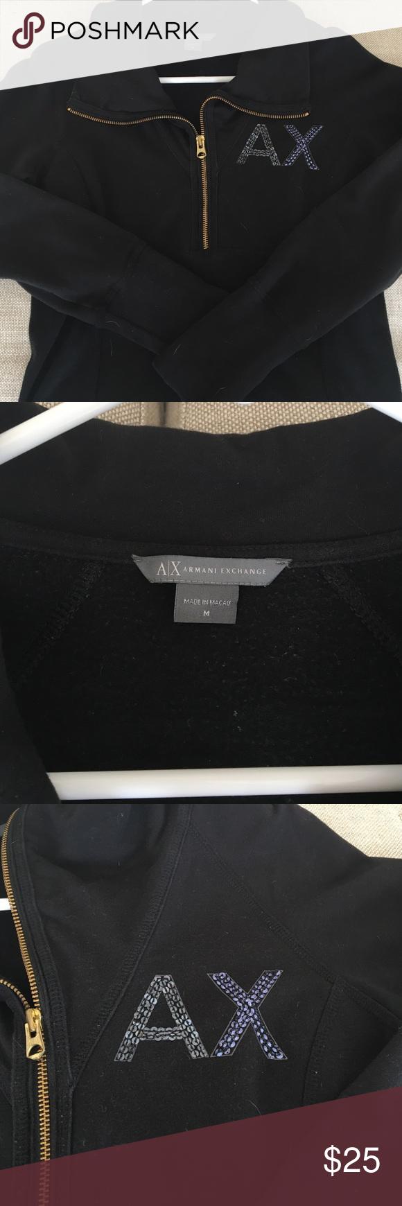 Armani Exchange black women's sweater | Black women, Turtlenecks ...