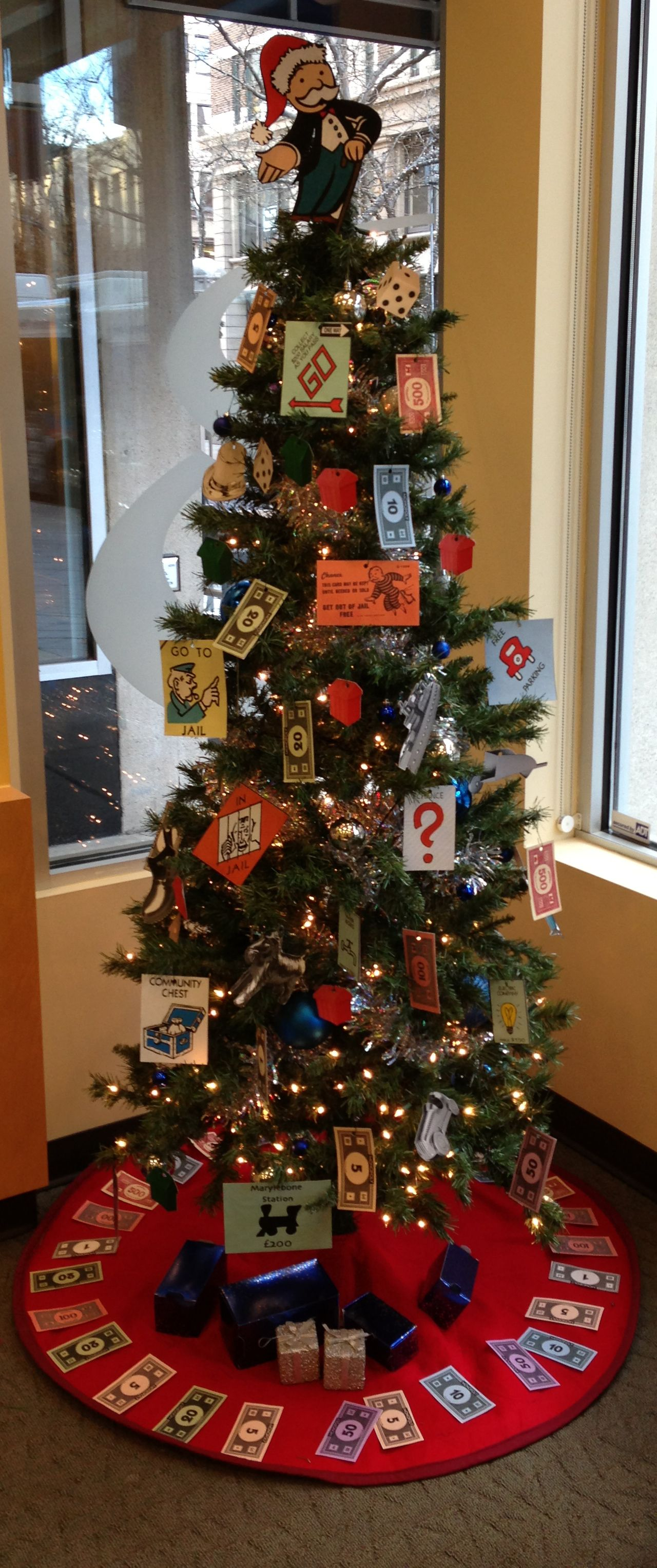 Downtown Branch 2013 Monopoly Christmas Tree