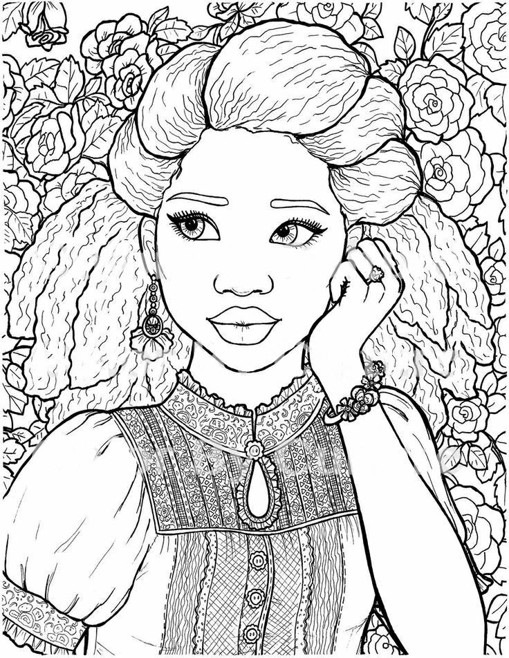 Pin by Alona Chen on איורי נשים Coloring pages, Adult