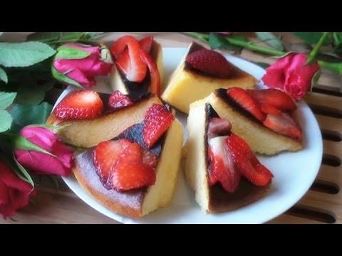 Valentine's Day Specials ♥ Japanese Cotton Cheesecake with Fresh Strawberry Topping