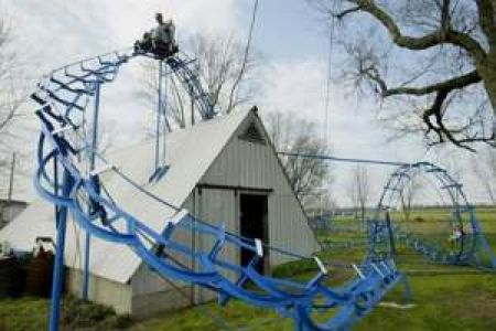 The Blue Flash.  Home-made roller coaster.