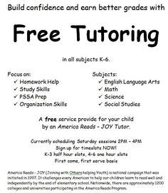 tutoring flyer template