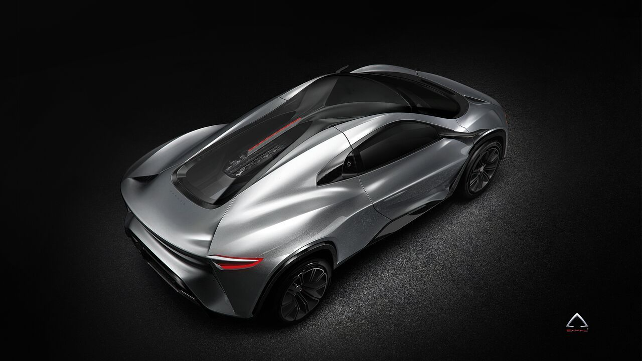 Design Company Camal Creates Stunning Ramusa HyperSUV Concept A small design company called Camal is presenting their version of a Bugatti powered SUV, the Ramusa HyperSUV. It is a 2-setaer, mid-engine SUV running on quad-turbo 3.5-liter V12 engine borrowed from EB110 and one electric motor for the front wheels.  Ramusa HyperSUV has 250 mm ground clearance...
