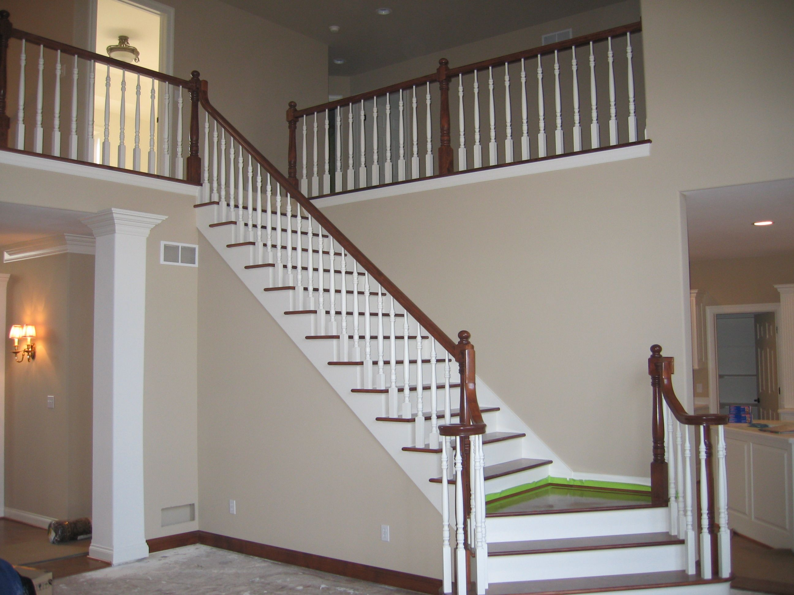 Best Two Toned Staircase Leading To The Second Floor In The 400 x 300