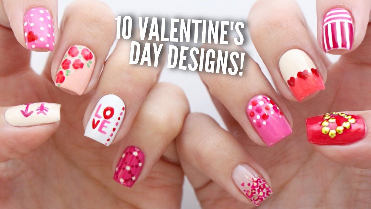 10 Valentine\'s Day nail art designs that are perfect for beginners ...