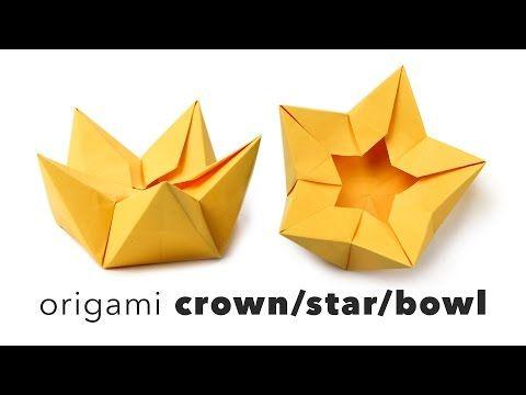 Origami star flower crown bowl tutorial origami origami stars origami star flower crown bowl tutorial paper kawaii mightylinksfo