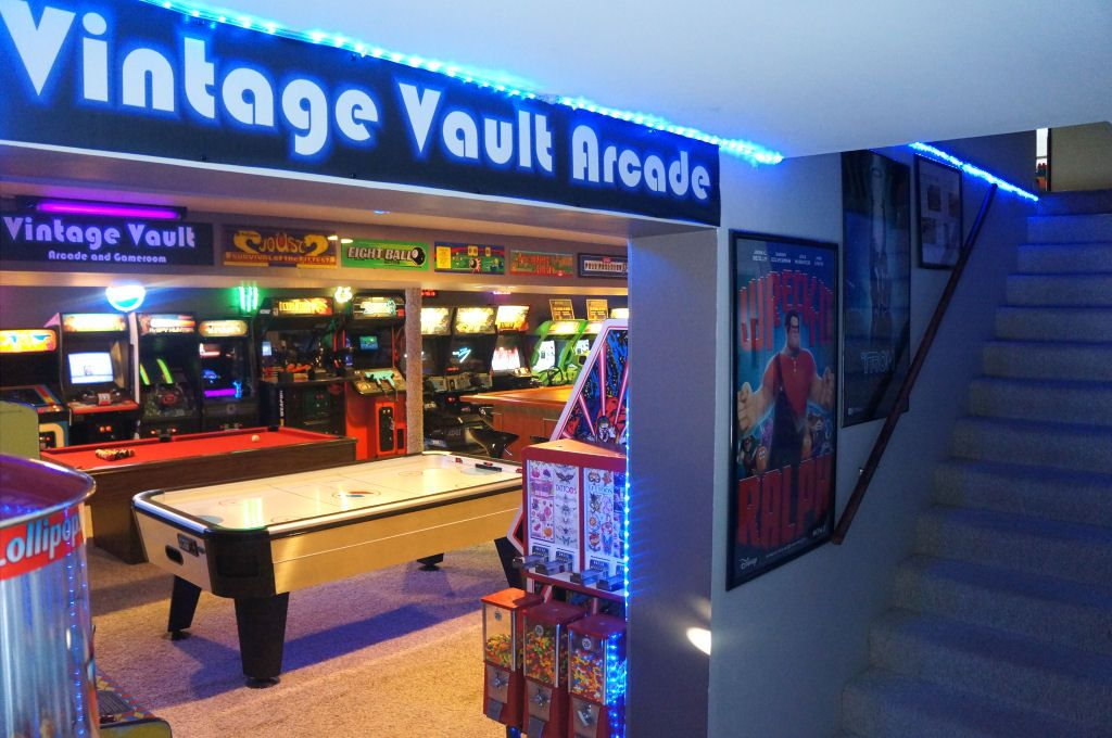 We may earn a commission for purchases using our l. The Basement Arcade   Arcade room, Arcade game room, Game ...