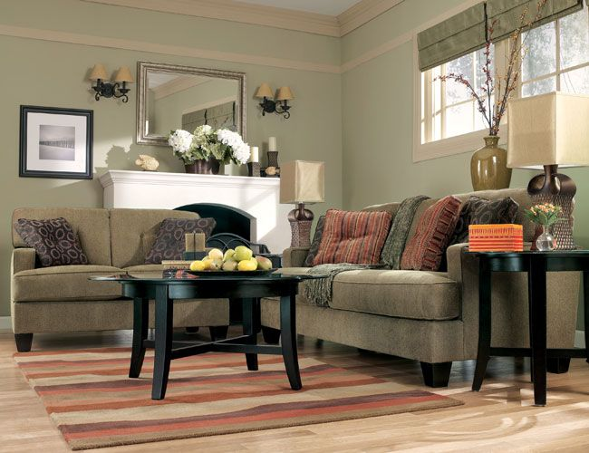 House Simple No Fuss Earth Tone Color Living Room