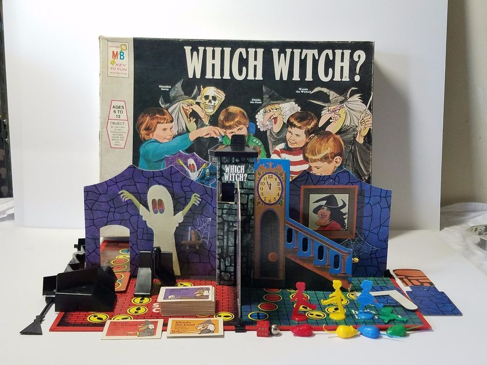 Vintage Milton Bradley Which Witch Board Game Complete 1971 Halloween 3D  #4012 | Which witch, Witch board, Favorite board games