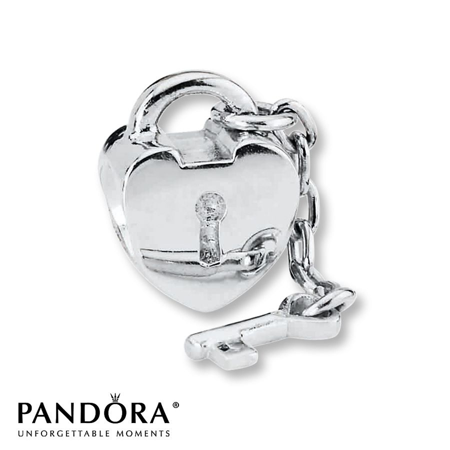 Jared Pandora Charm Key to My Heart Sterling Silver My Style