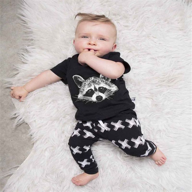 4c95057fda71 Summer Baby Boys clothing set 2pcsset Girls Clothing