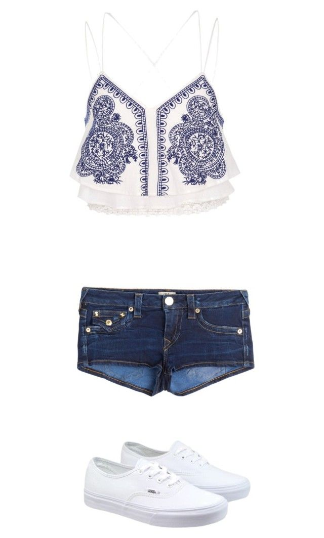 """""""Untitled #1007"""" by pandagirlcdm ❤ liked on Polyvore featuring River Island, True Religion and Vans"""