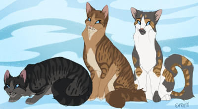 Im going to say these cats are Dustpelt, Brackenfur and