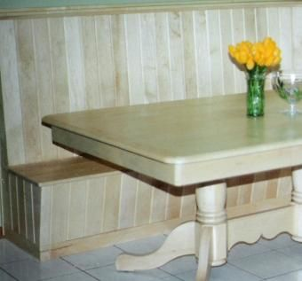Maple Table and Corner Booth