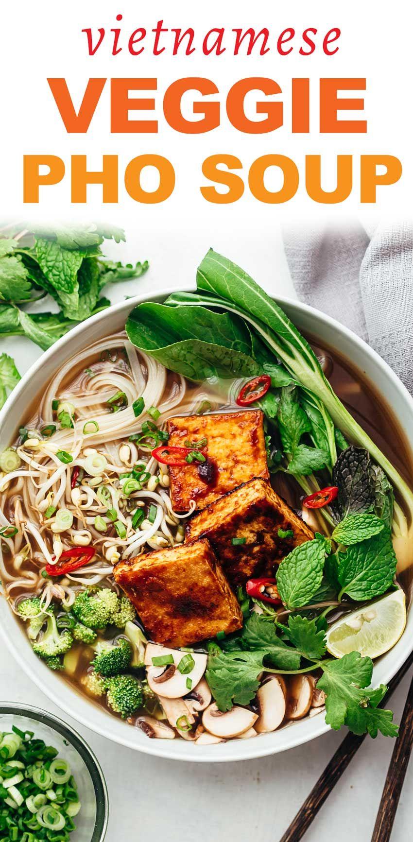 Vegetarian Pho Soup Vietnamese Noodle Soup Recipe In 2020 Pho Soup Vegetarian Pho Veggie Pho