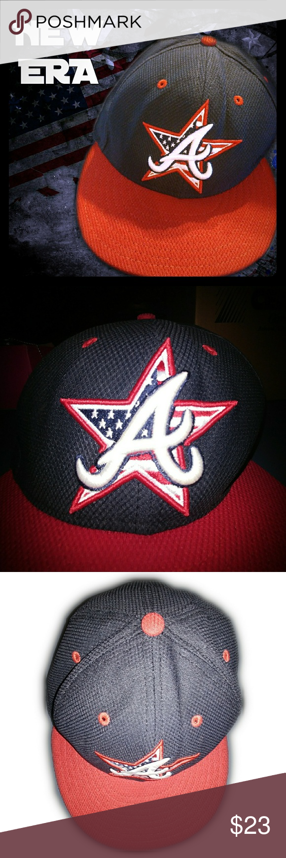 New Era Mlb 59fifty Atlanta Braves Fitted Hat Excellent Pre Owned Condition Fitted Size 7 1 4 57 7 Cm Rare American Fla Fitted Hats New Era New Era 59fifty