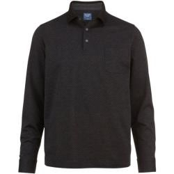 Olymp Casual Polo Pullover, modern fit, Anthrazit, M Olymp