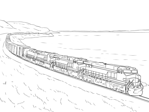 Freight Train Coloring Page From Trains Category Select From 25105 Printable Crafts Of Cartoons Natur Train Coloring Pages Love Coloring Pages Coloring Pages