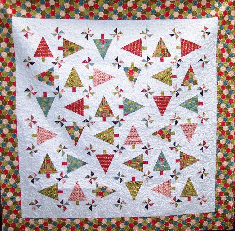 Theme Moda three strip pinwheel quilt pattern