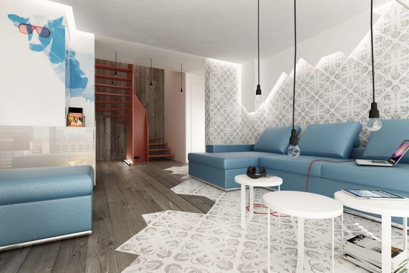 Wohnen In Blau Und Weiß U2013 50 Moderne Wohnideen #moderne #wohnen #wohnideen