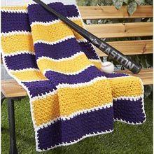 Herrschners® Grandstand Blanket Pattern Crochet Pattern