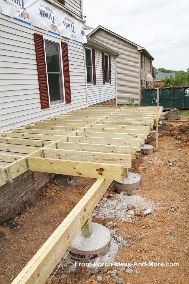 Porch Foundations Porch Repairs Porch Footing Patio Deck Designs Building A Porch Porch Repair
