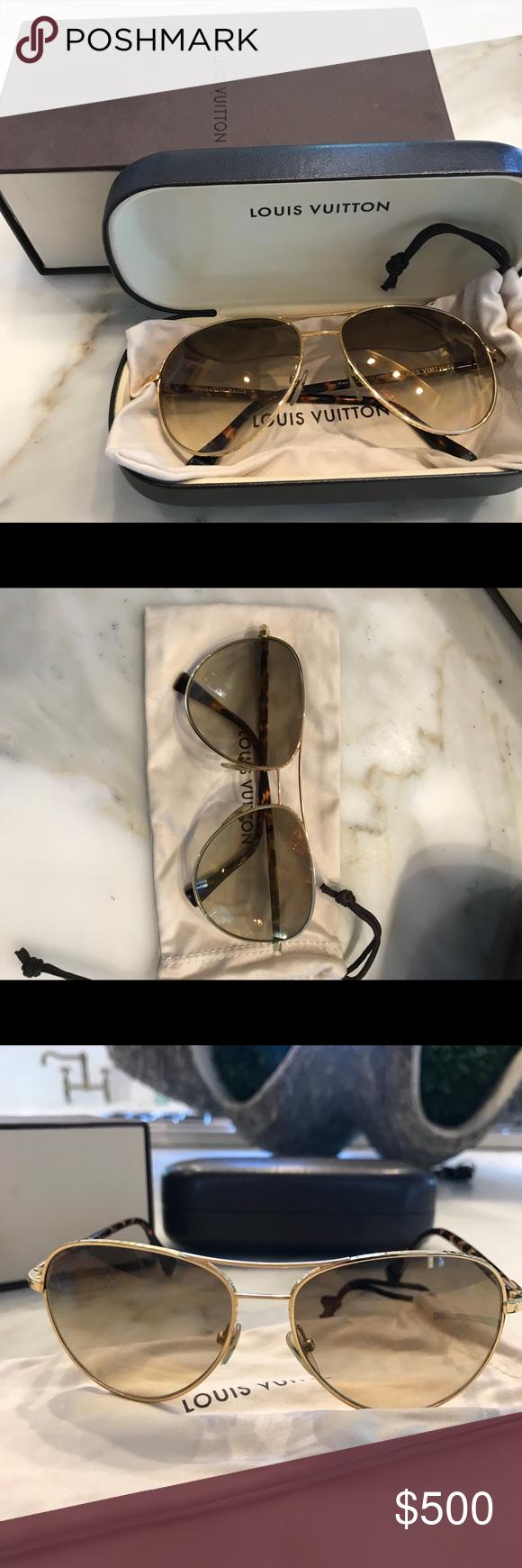 edb5ef88b06a Louis Vuitton Aviator Sunglasses Gently used LV aviators! No scratches