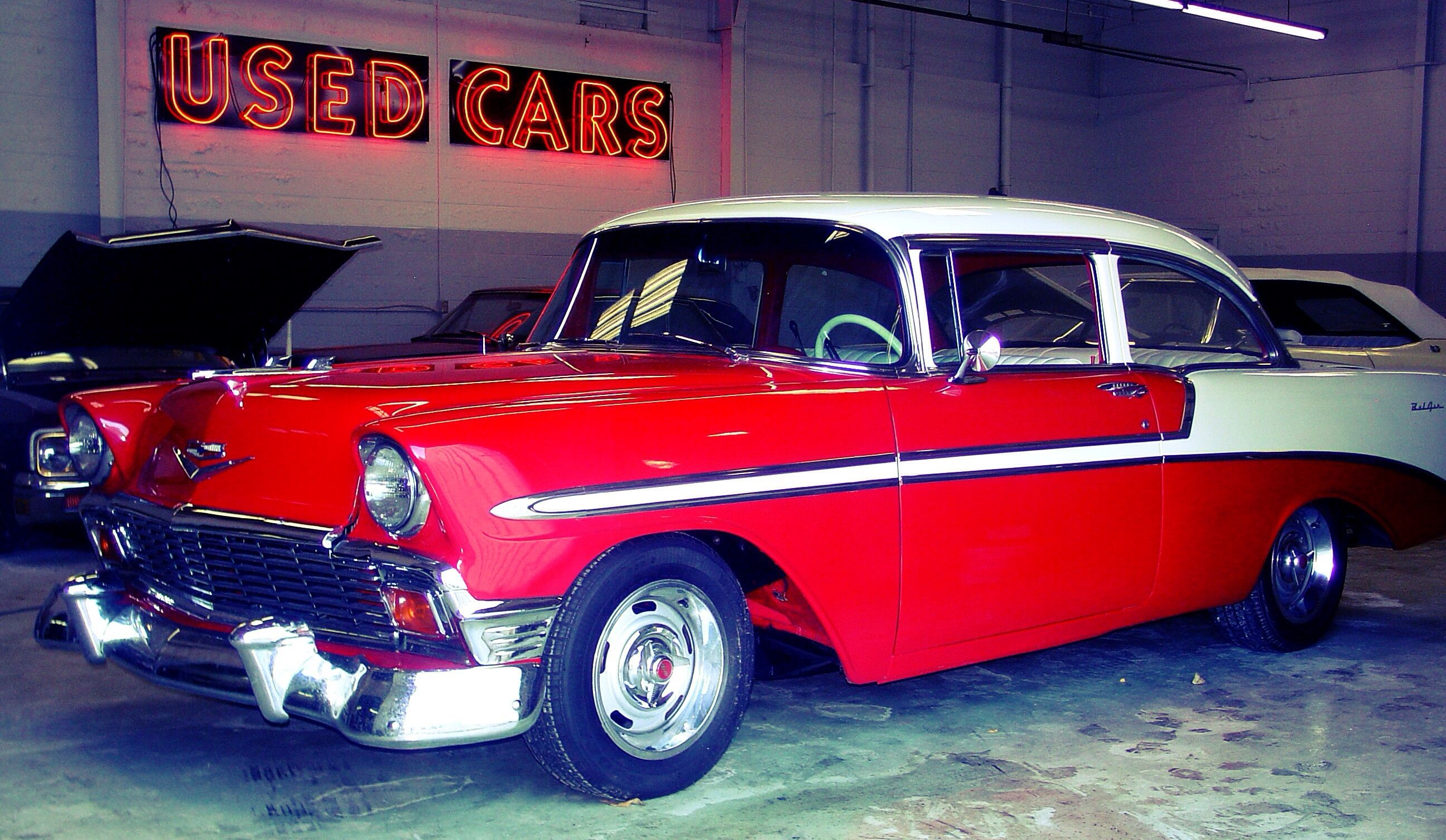 56 BelAir. Owned by Rudy Langer of KC Vintage Cars in Kansas City ...
