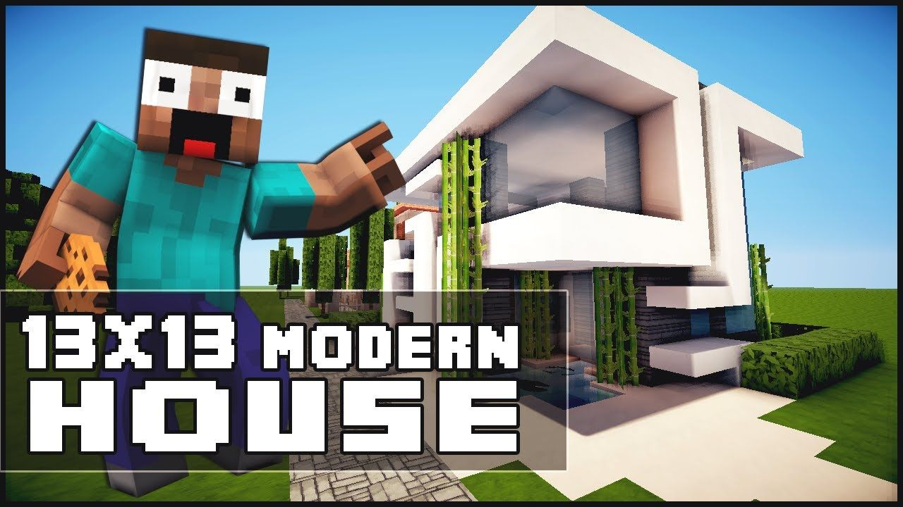 Minecraft house tutorial 13x13 modern house minecraft for Minecraft haus modern