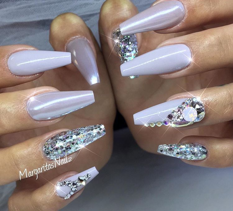 Chrome coffin nails | Pink and nude nail designs by MargaritasNailz ...