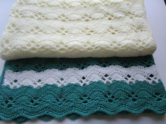 Crochet Blanket Pattern Large Fan Stitch Crochet Afghan | Mantas ...