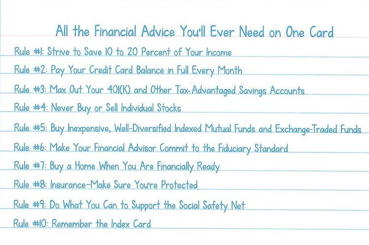 All The Financial Advice You Ll Ever Need On One Card Finance