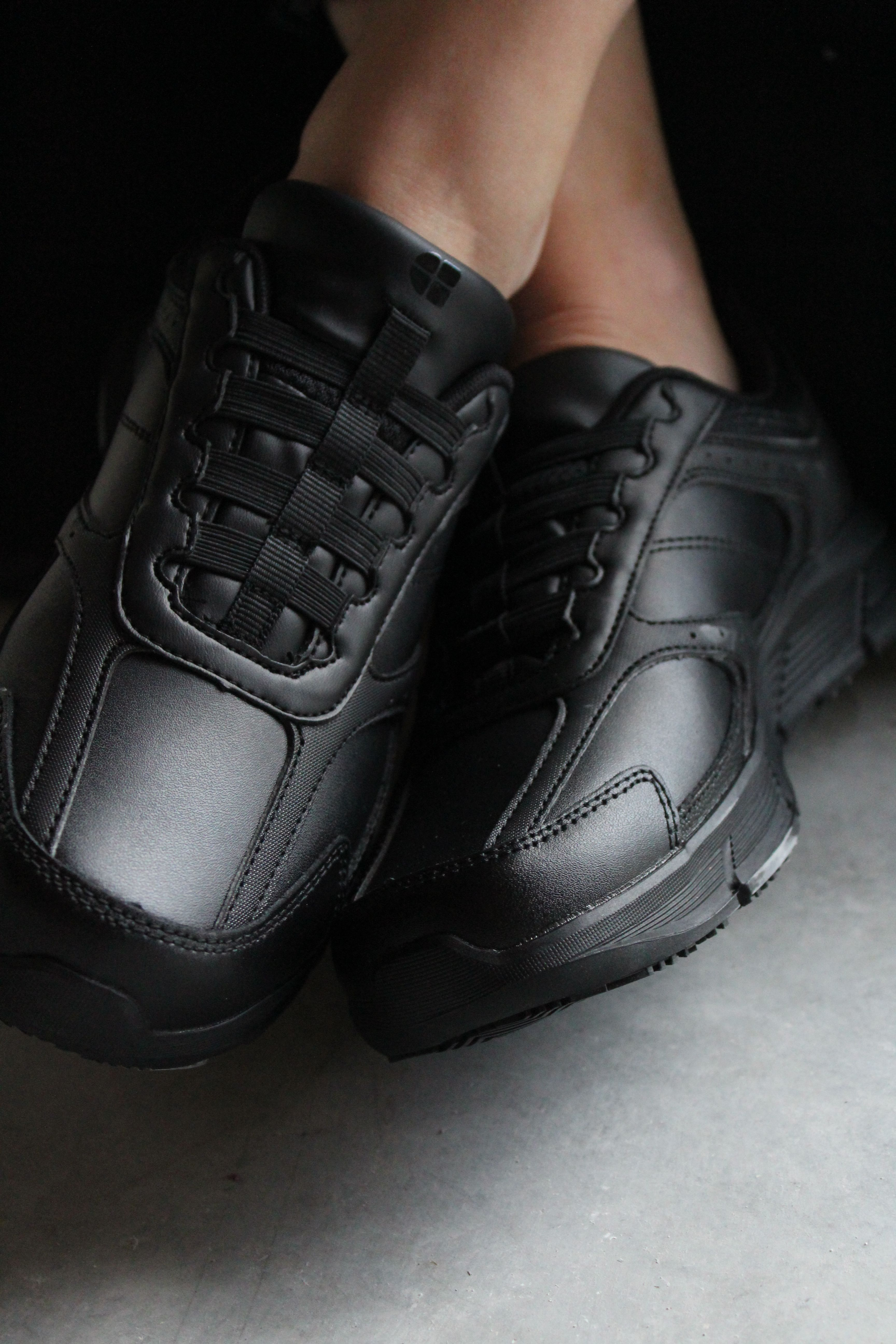 black shoes to work