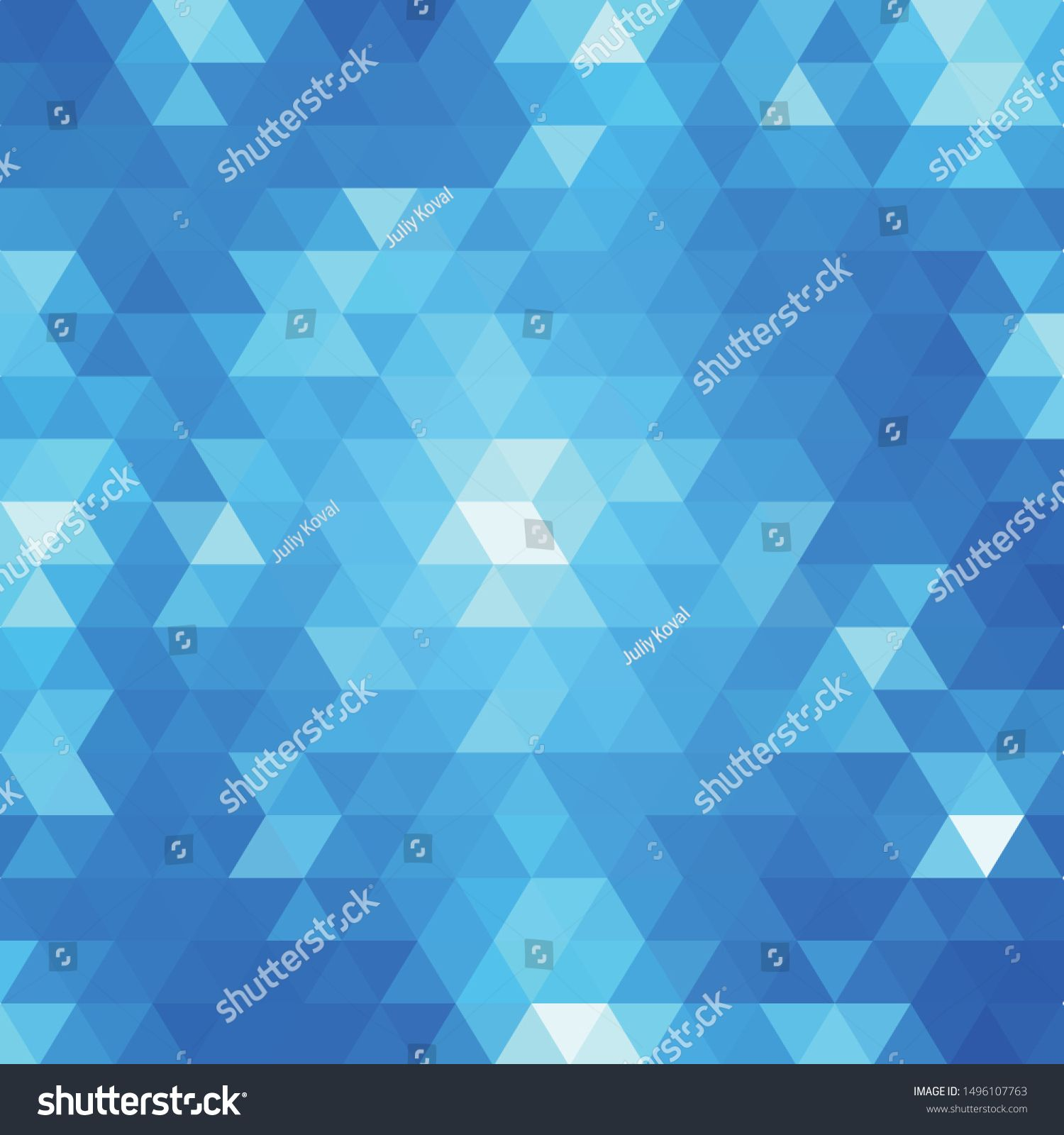 Abstract Blue Background With Triangle Mosaic Vector Ad