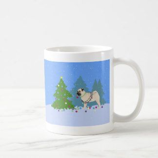 Pug Decorating A Christmas Tree In The Forest Coffee Mug Gifts For Dog Owners Pug Gifts Dog Gifts