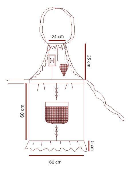 Como hacer un delantal de cocina manualidades y for Como hacer cortinas para cocina