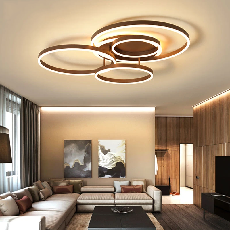Surface Mounted Modern Led Ceiling Light For Living Room Bedroom Dining Room White Coffee Lustre Chandelier Ceiling Lamp Fixture In 2021 Ceiling Lights Living Room Modern Led Ceiling Lights Living Room Lighting