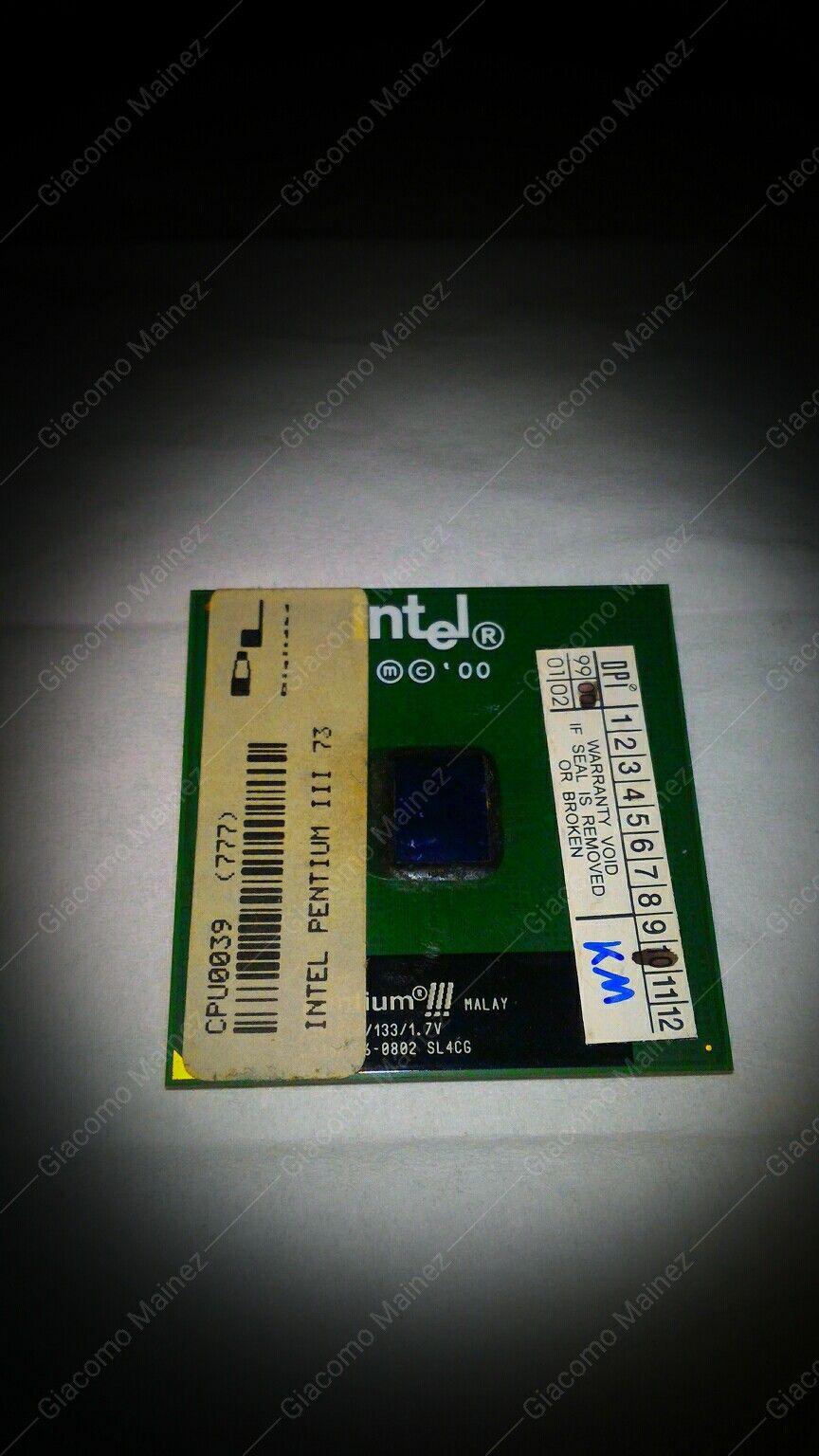 Il Pentium III era uno dei processori che ha un gran numero di varianti. Questo processore è: SL4CG.