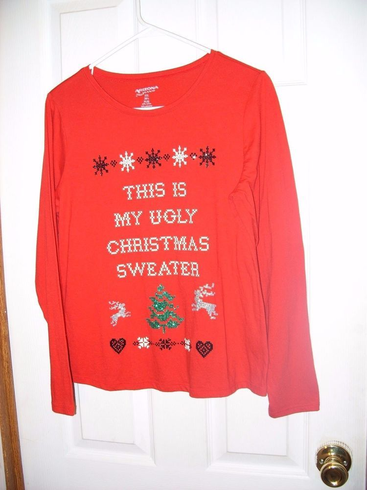 red holiday this is my ugly christmas sweater womens xxl - My Ugly Christmas Sweater