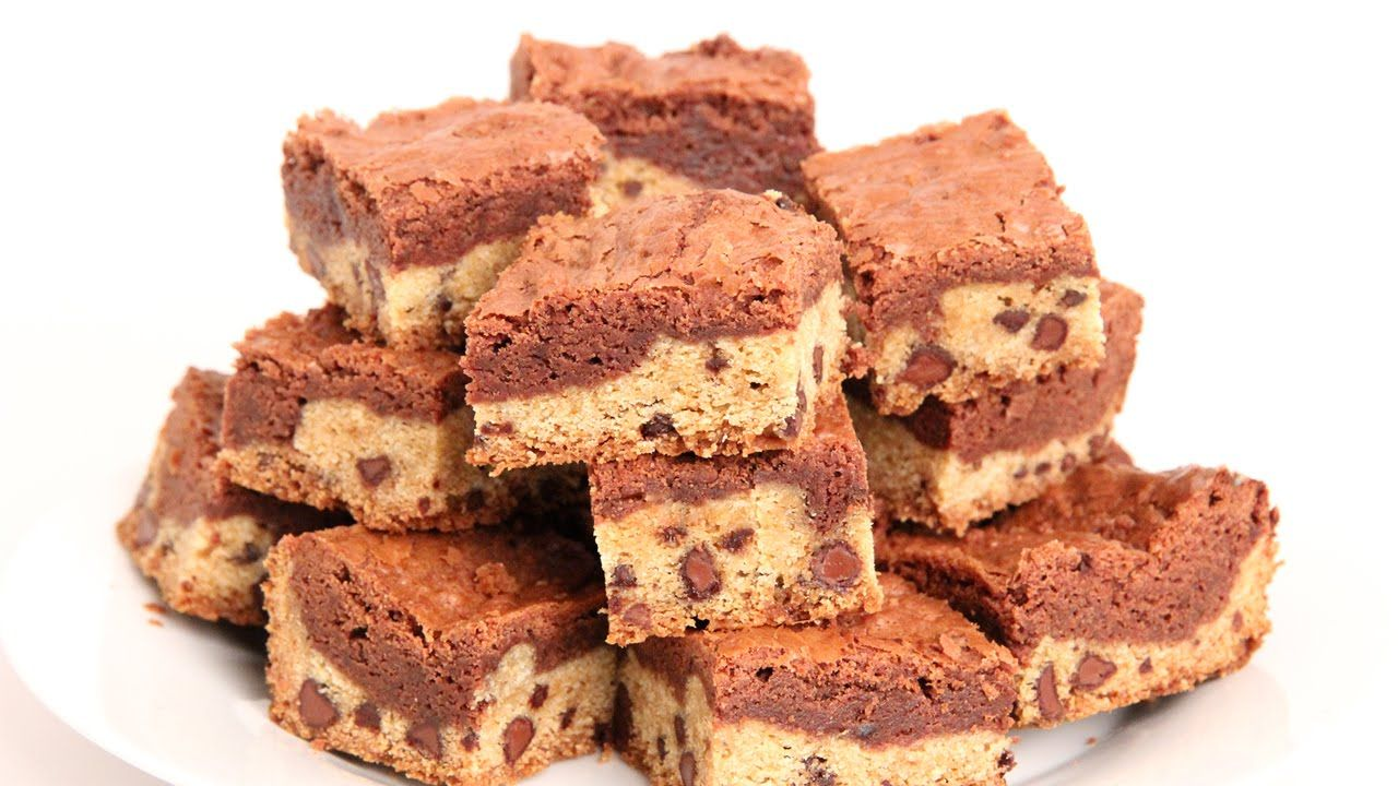 Cookie Dough Brownies Recipe - Laura Vitale - Laura in the Kitchen ...