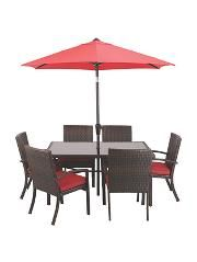 Beau Jakarta 8 Piece Patio Set  Red