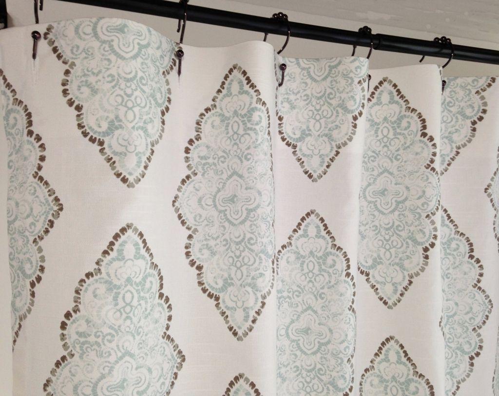 84 Inch Wide Shower Curtain Modern