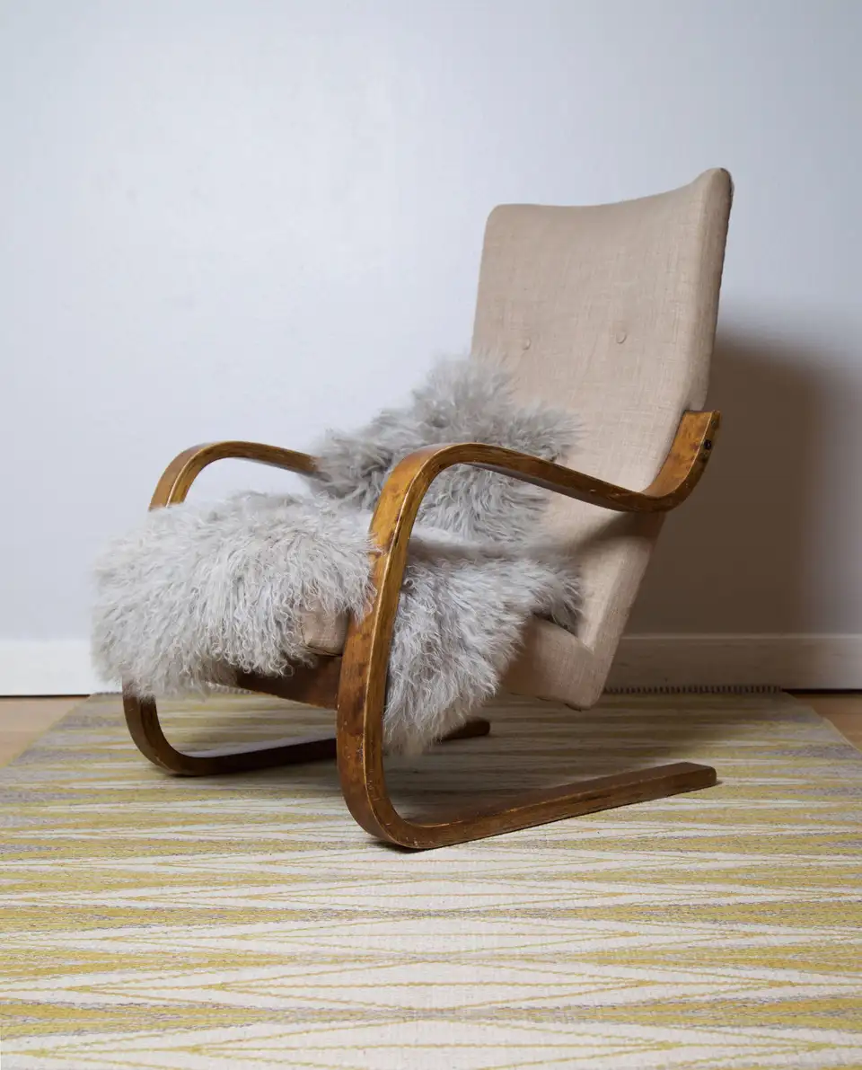 1930s Alvar Aalto Cantilevered HighBacked Chair, Finland
