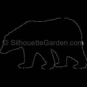 Polar Bear Silhouette Bear Silhouette Polar Bear Silhouette Clip Art
