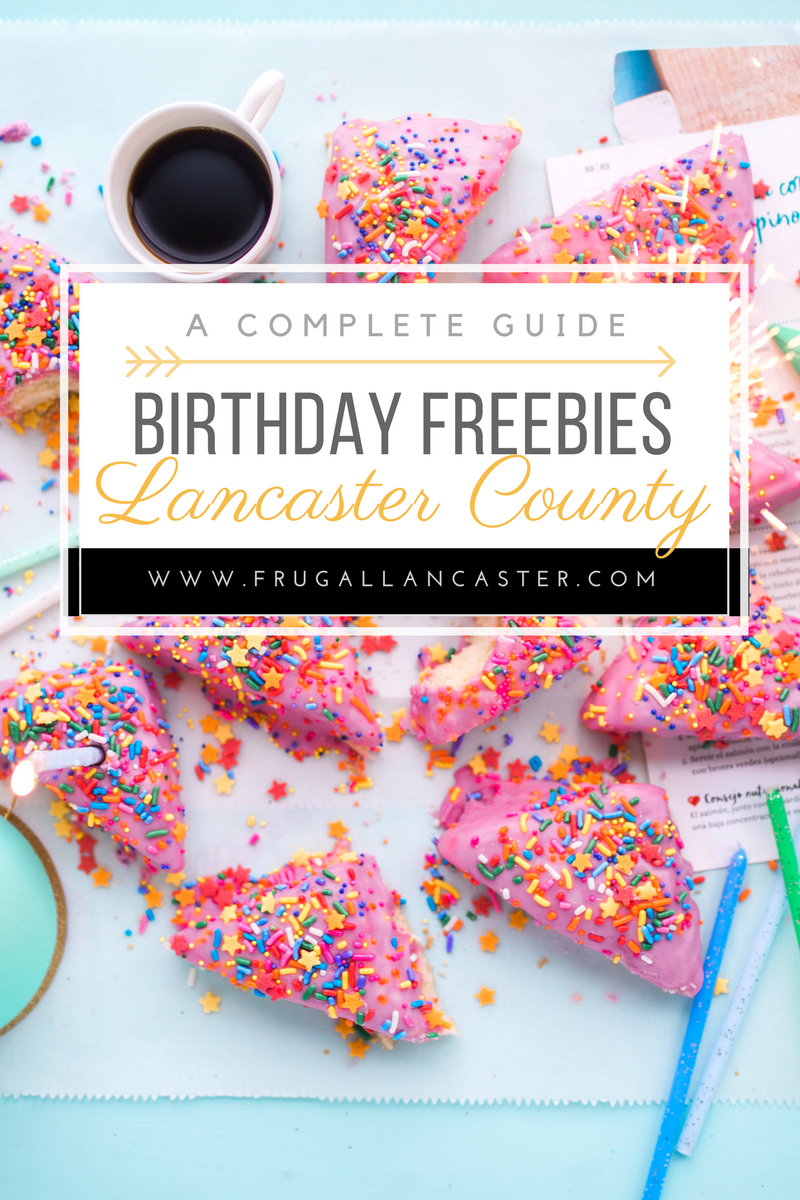 A complete list of birthday clubs to Lancaster County