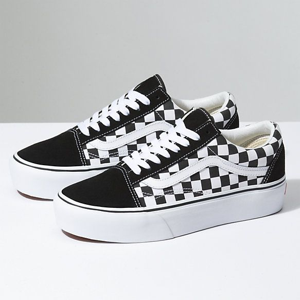 Checkerboard Old Skool Platform | Shop Classic Shoes | Van ...