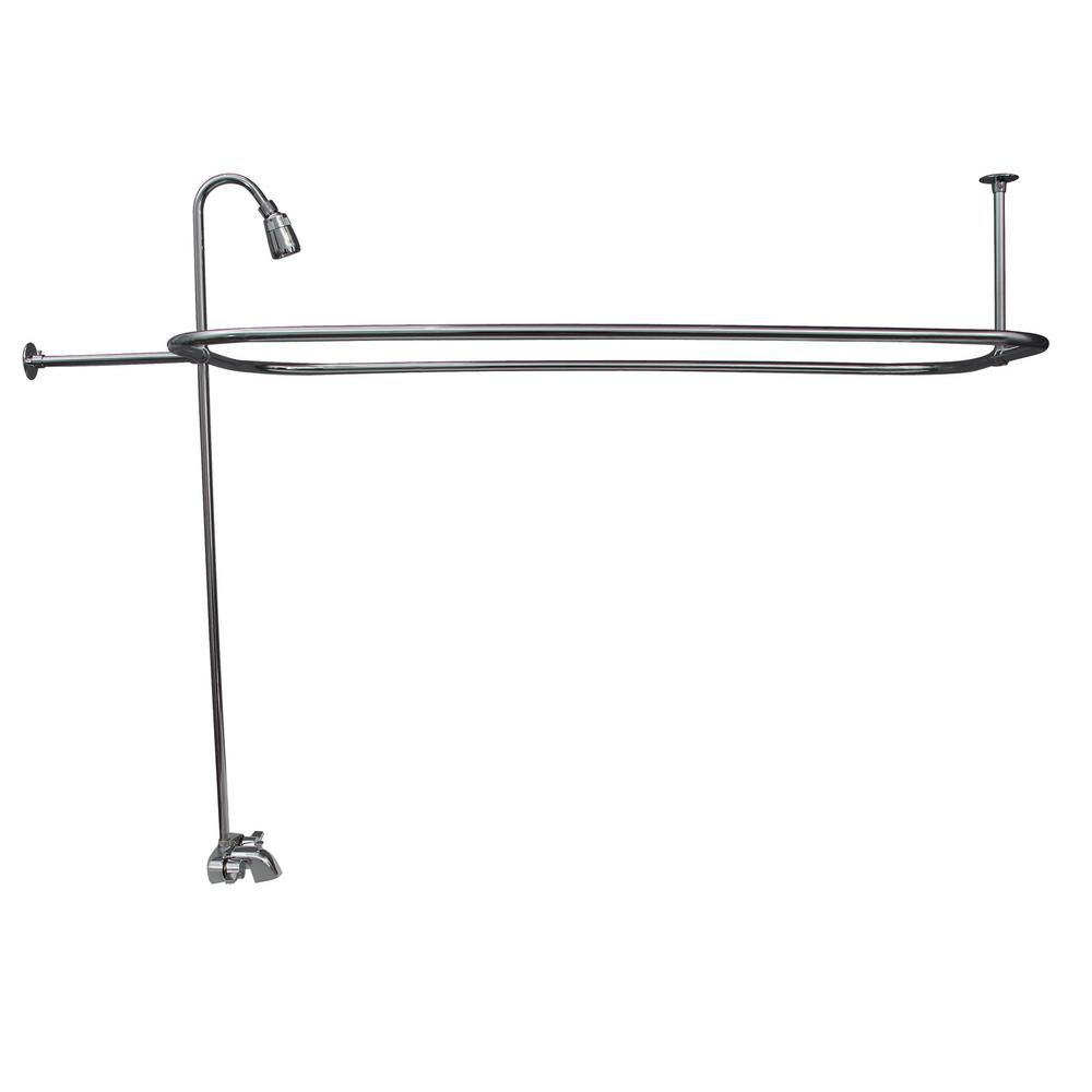 Pegasus 2 Handle Claw Foot Tub Faucet with Riser 54 in