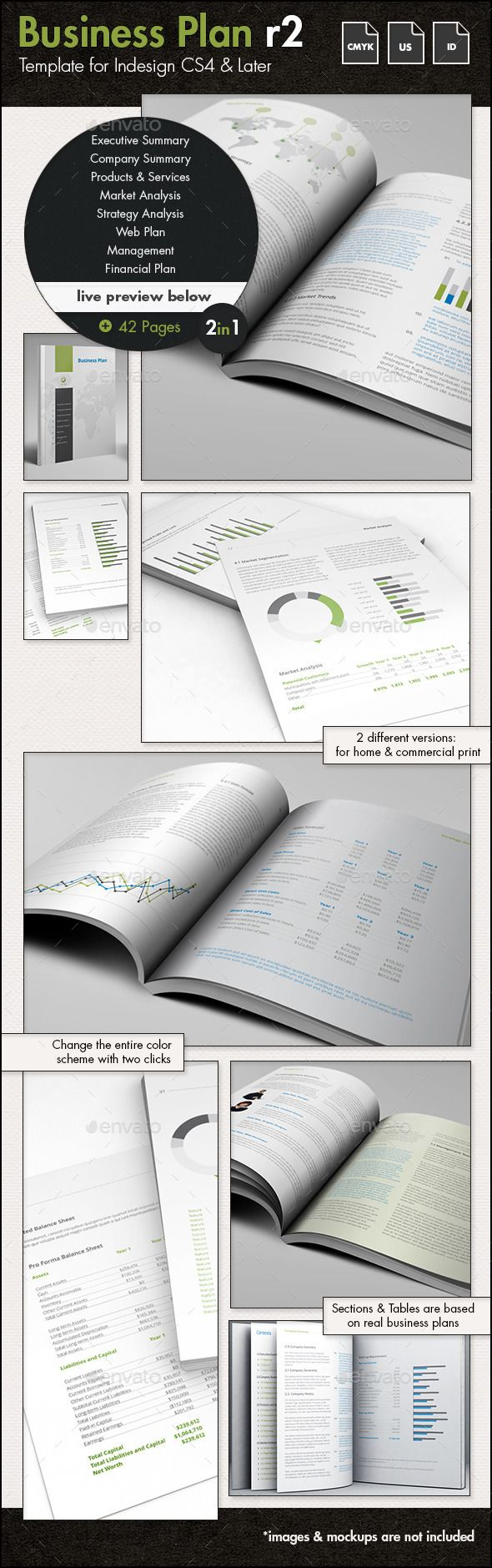 Business Plan Template US Letter Business
